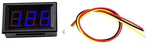 3-wire Voltmeter DC 0-100V Mini voltage measuring 0.56