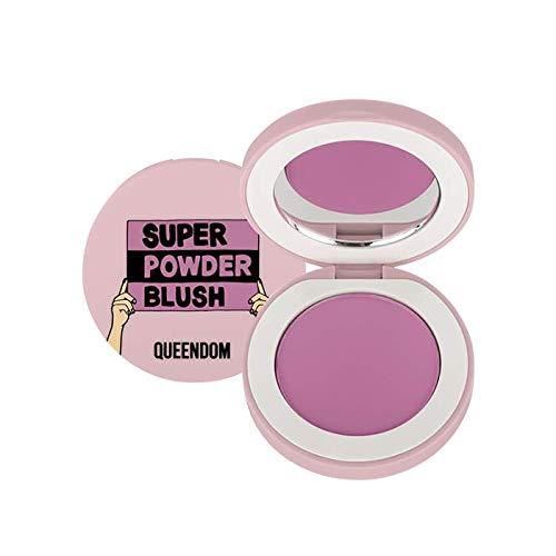 Queendom Super Powder Blush   Orchid Violet Shade   Highly Pigmented   Matte Powder Finish   Vegan, Cruelty Free, Paraben Free