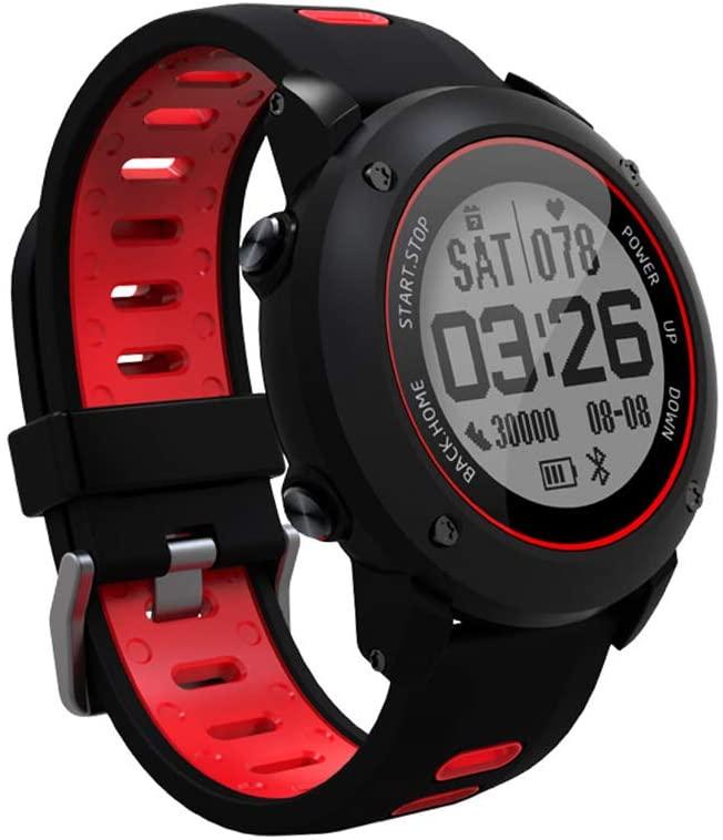 SoonCat GPS Watch for Men, Running Smart Watch All Black Military Men's Outdoor Sports Watch (Red)