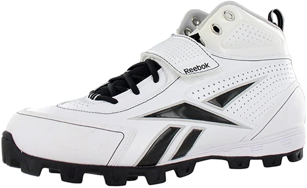 Reebok Pro Thorpe III ATF Men's Football Shoes (14, White/Black)