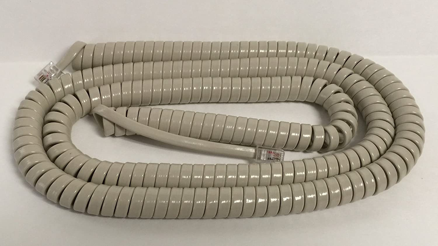 The VoIP Lounge 25 Foot Long Ash Beige Tan Handset Receiver Curly Cord for Nortel Norstar M Series Phone M7100 M7208 M7310 M7324 M2008 M2616 M5316