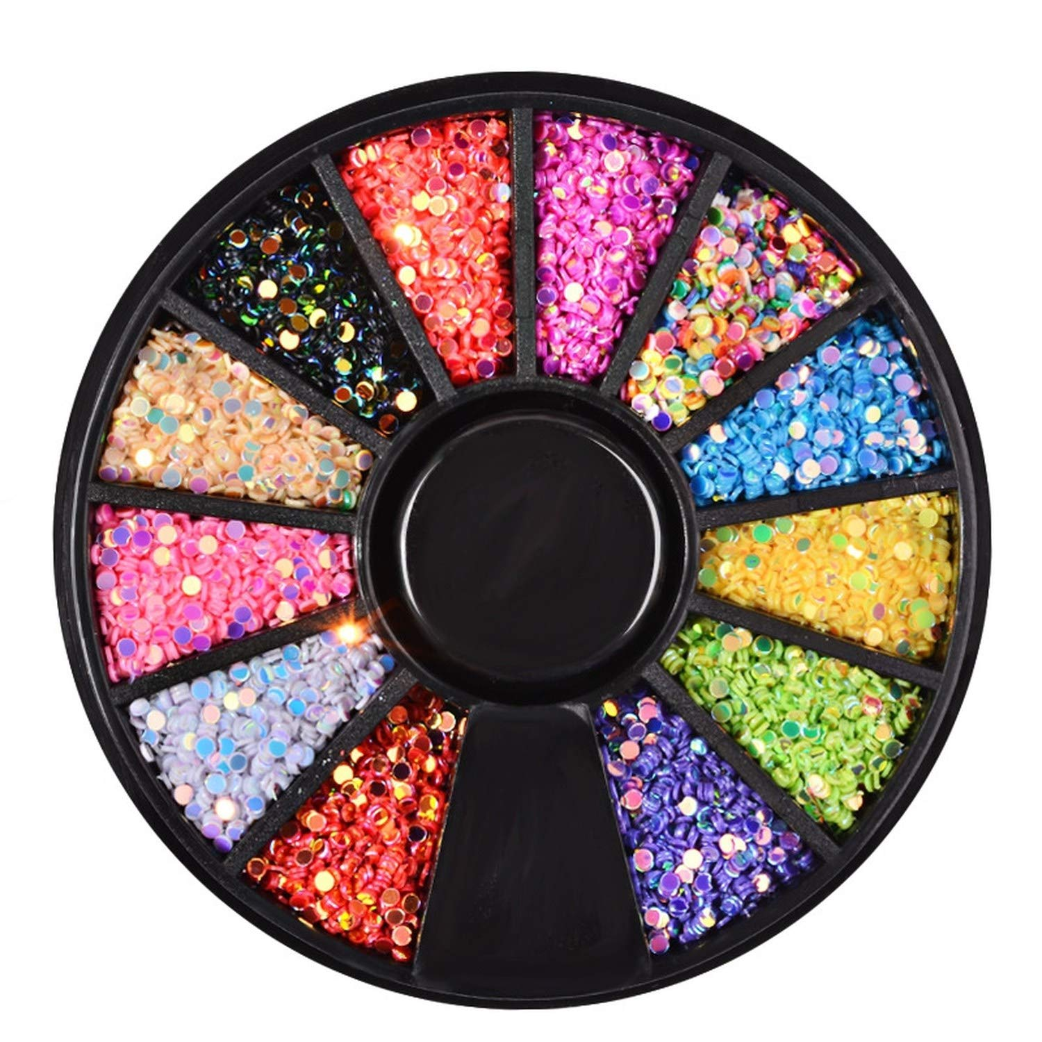 1 Box Colorful 3D Jelly AB Acrylic Wheel Nail Stickers Decoration Nail Art Tips Jewelry Rhinestones Manicure tools,114