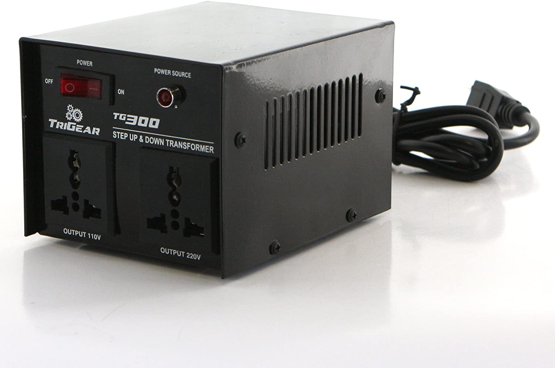 TriGear TG 300W 300 Watt Step Up Down Voltage Transformer Converter AC 110/220 V or 110/220 Volt