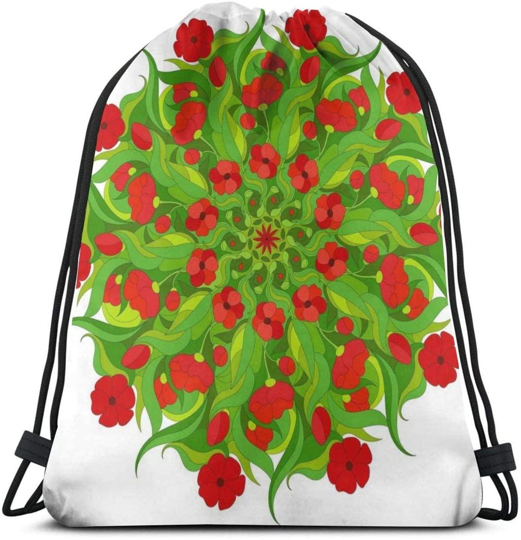 Backpack Drawstring Bags Cinch Sack String Bag Mandala Retro Art Design Sackpack For Beach Sport Gym Travel Yoga Camping Shopping School Hiking Men Women