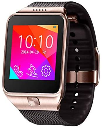 inDigi 2-in-1 Smart Watch and Phone - GSM Unlocked + Compatible w/Bluetooth (Gold)