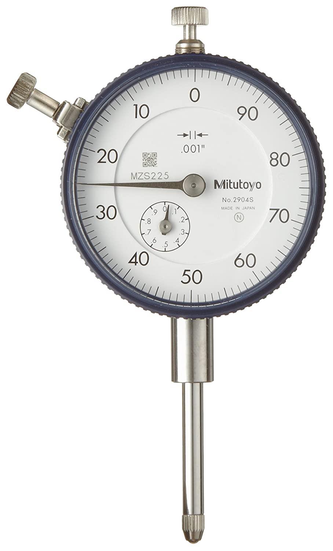 Mitutoyo 2904SB Dial Indicator, #4-48 UNF Thread, 0.375
