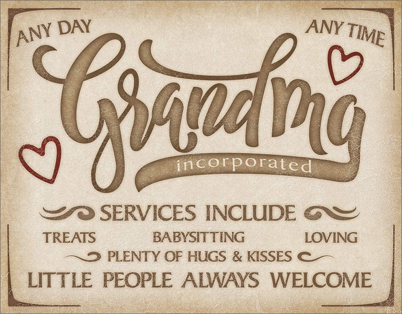 Desperate Enterprises Grandma Inc Tin Sign, 16