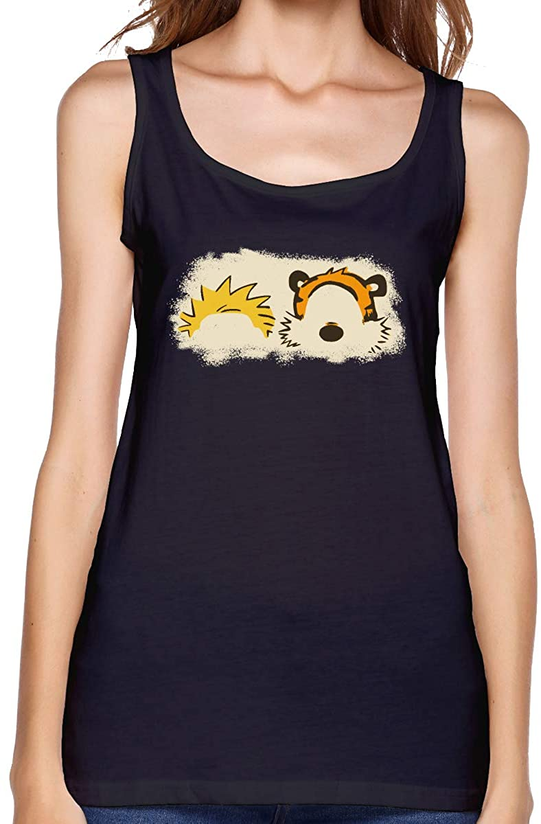 FwadGacx Calvin and Hobbes Fashion Sports Design Women Premium Tank Top for Daily Life Sport