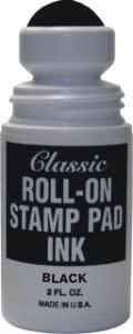 Roll-on Stamp Pad Ink - Black