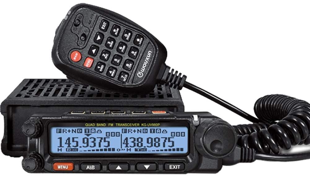 WOUXUN KG-UV980P Quad Band Mobile Radio CB Band & VHF& UHF Air Band Receiving