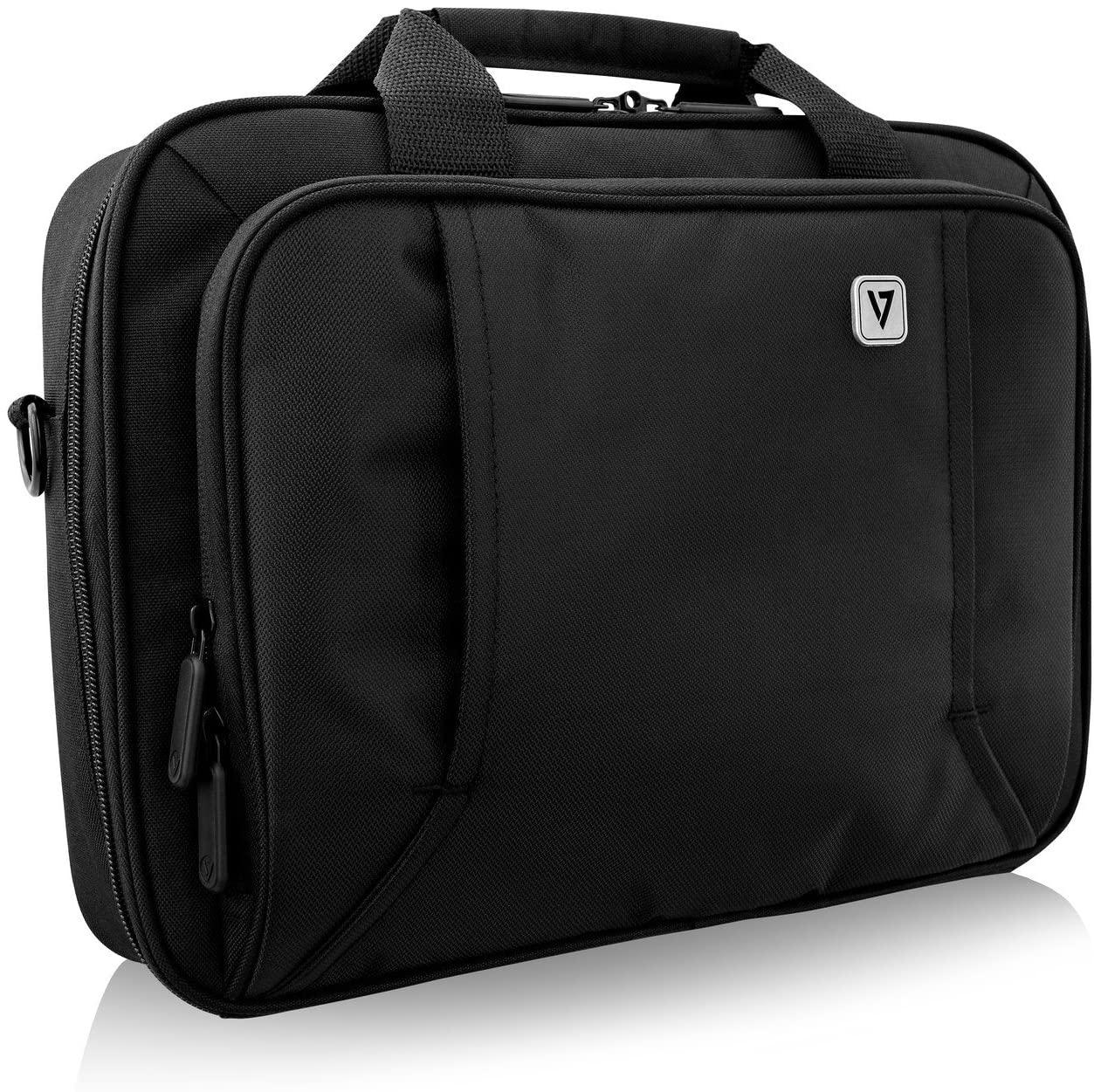V7 CCP13-BLK-9N 13 Professional Front Loading Laptop Case (RFID, Weather Resitant)