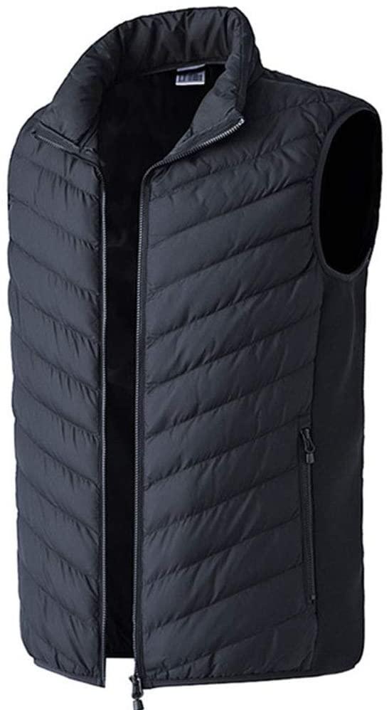 JJDD'G Heated Vest, USB Men Heated Vest, Infrared Heating +2 Heating Zones + Adjustable Temperature of 25~45℃, for Outdoor Activities