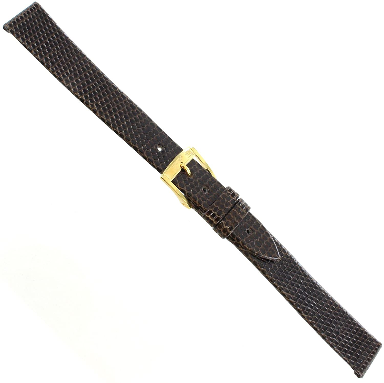 14mm Morellato Genuine Lizard Brown Flat Unstitched Watch Band Long 117