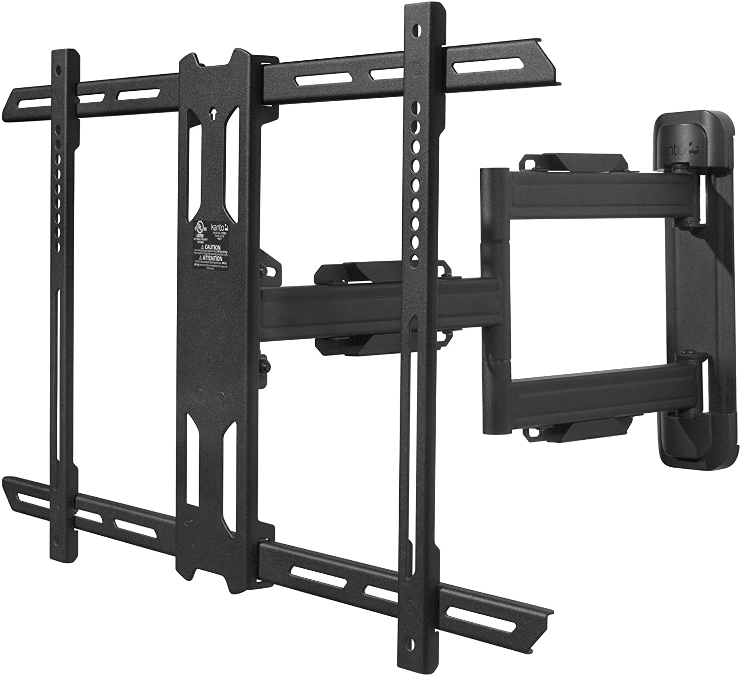 Kanto PS350 Full Motion Articulating TV Wall Mount for 37-inch to 60-inch TVs | Low Profile & 22 Extension | VESA Compatible up to 600x400 | Black
