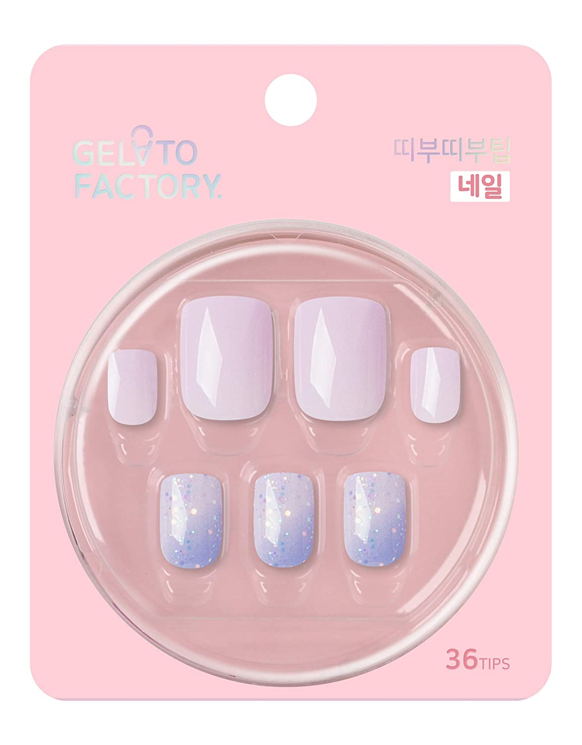 Nail-Tip [Dream Palette] by Gelato Factory - GlueFree 'Press-On Nails' false fake artificial