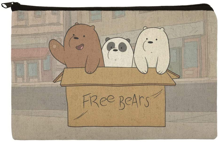 We Bare Bears Baby Bears Makeup Cosmetic Bag Organizer Pouch
