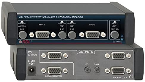 Radio Design Labs EZ-VM24E VGA/XGA Switcher/Equalized Amp 2x4