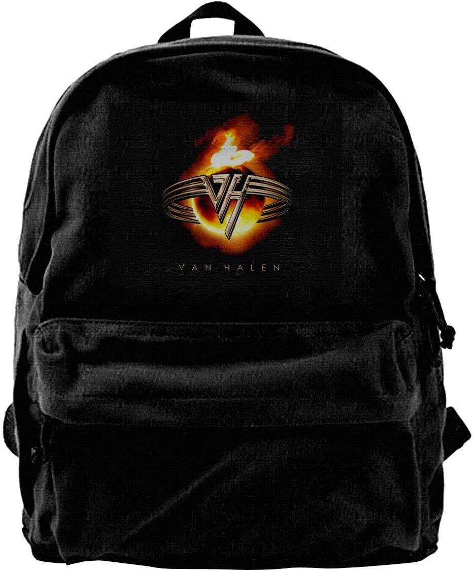 Van Halen Canvas Backpack Lightweight Travel Daypack Student Rucksack Laptop Backpack.