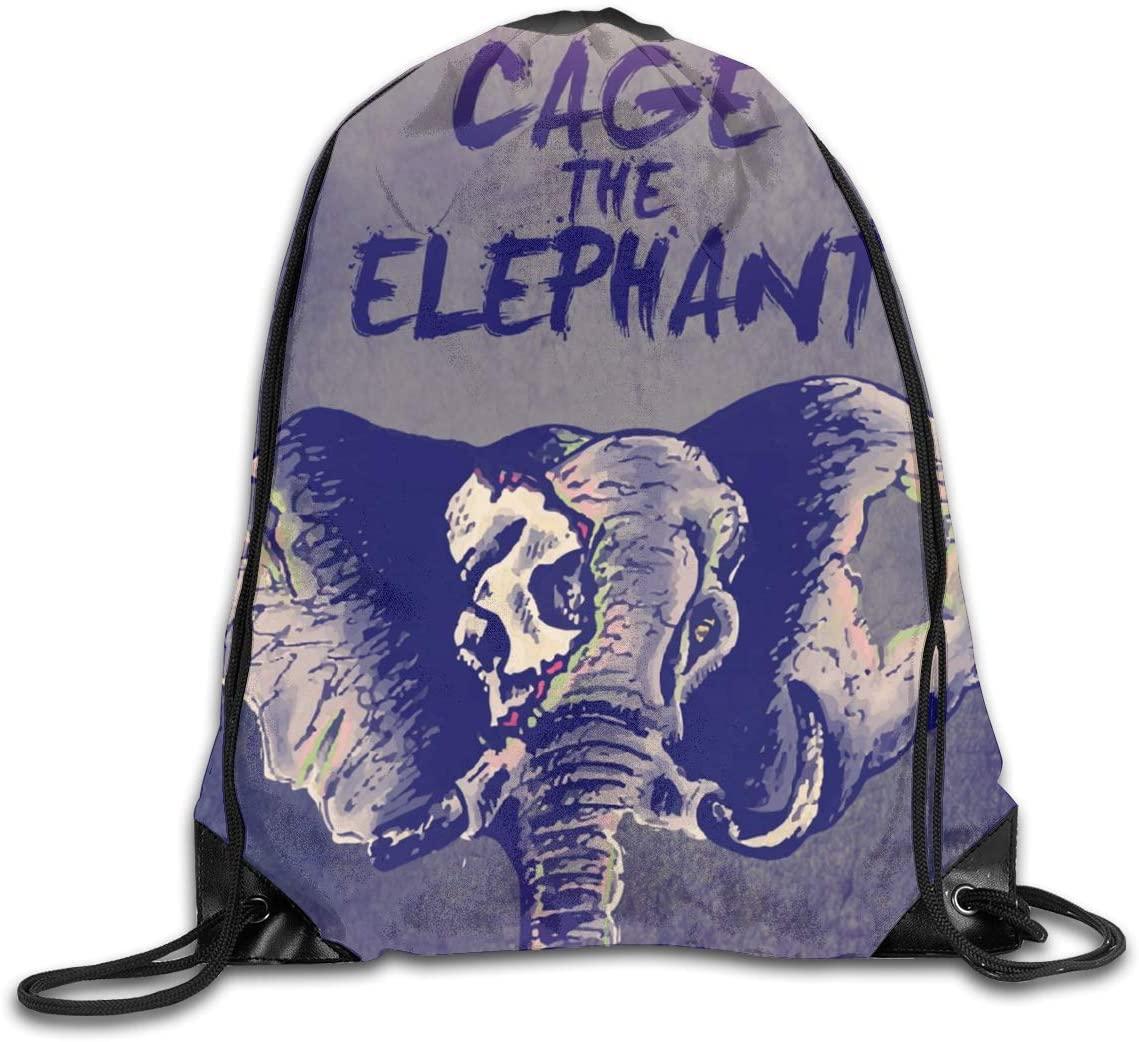 Cage The Elephant Unisex Drawstring Bags Training Travel Sack Daypack