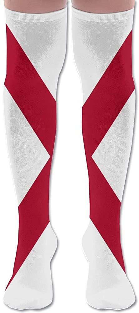 MASDUIH Flag Of Alabama Dresses Knee Thighs Stockings Traveling Thighs Socks.