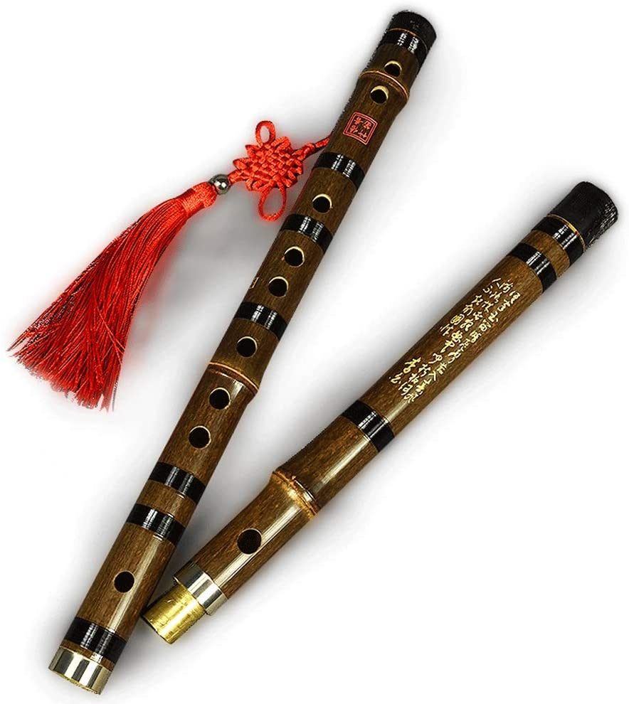 DDZZQ Pluggable Traditional Hand-Made Chinese Bamboo Flute in Chinese Musical Instruments (Size : E Key)