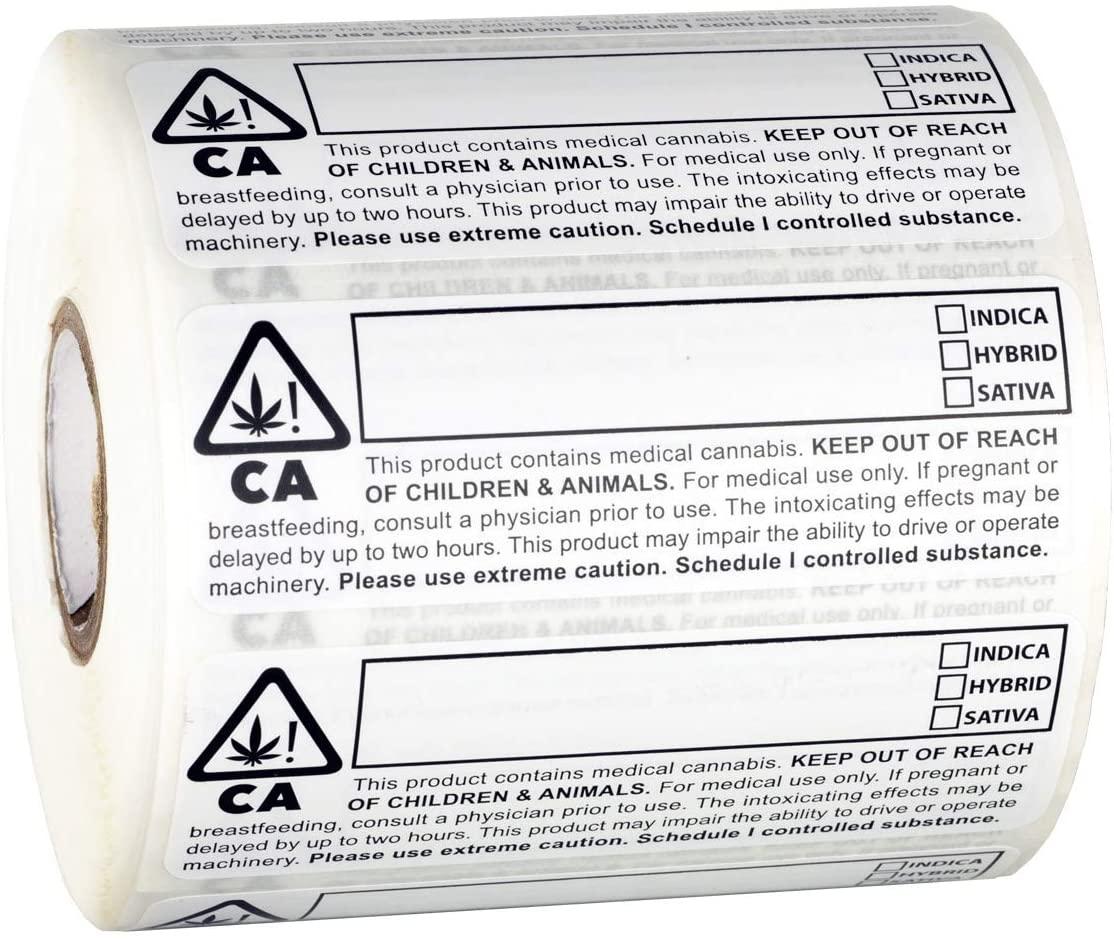 Dragon Chewer California Compliant Identification Labels - 1,000pc Sticker Roll 3