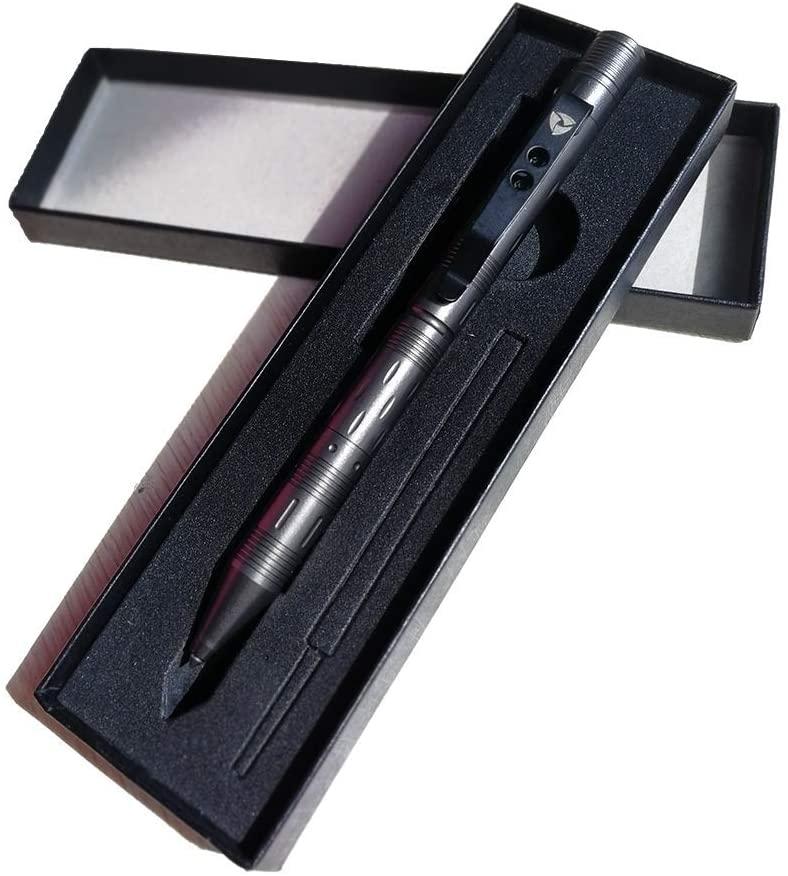 Tactical Self-defense Pen, LED Flashlight with Strobe Mode, Window Breaker, Ballpoint Pen, Best for EveryDay Carry (EDC) - By SOS EDC