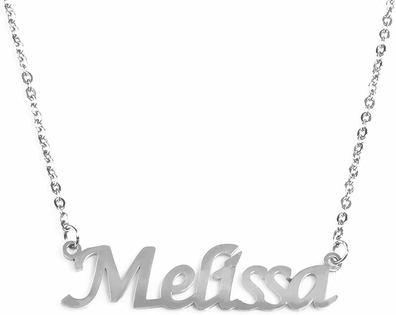 Kigu Melissa Name Necklace - Silver Tone