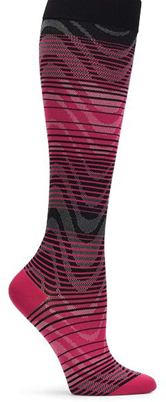Nurse Mates Active 15-20 mmHg Compression Socks (Pink Wave)