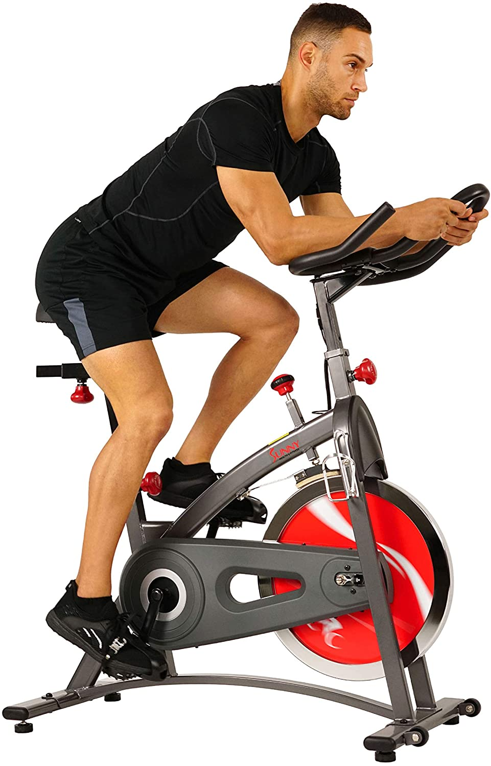 Sunny Health & Fitness Spin Bike Belt Drive Indoor Cycling Bike
