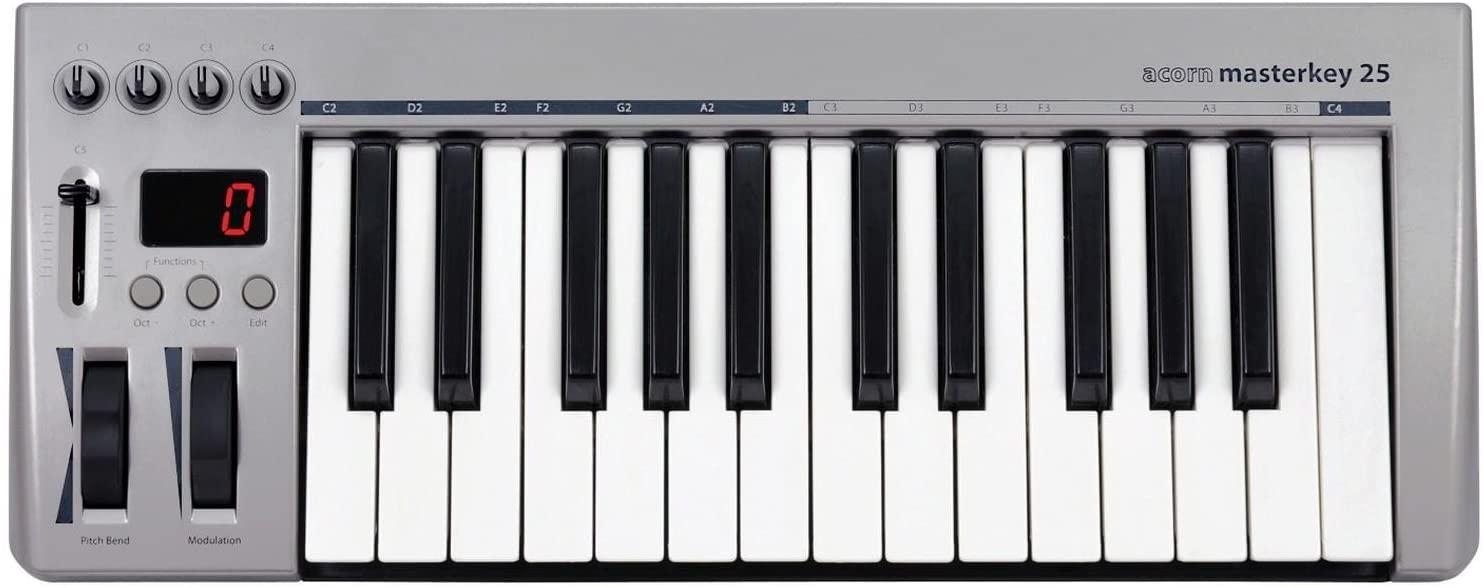 Acorn MIDI Controller Keyboard, 10.24 x 4.33 x 20.87 inches (Masterkey 25)