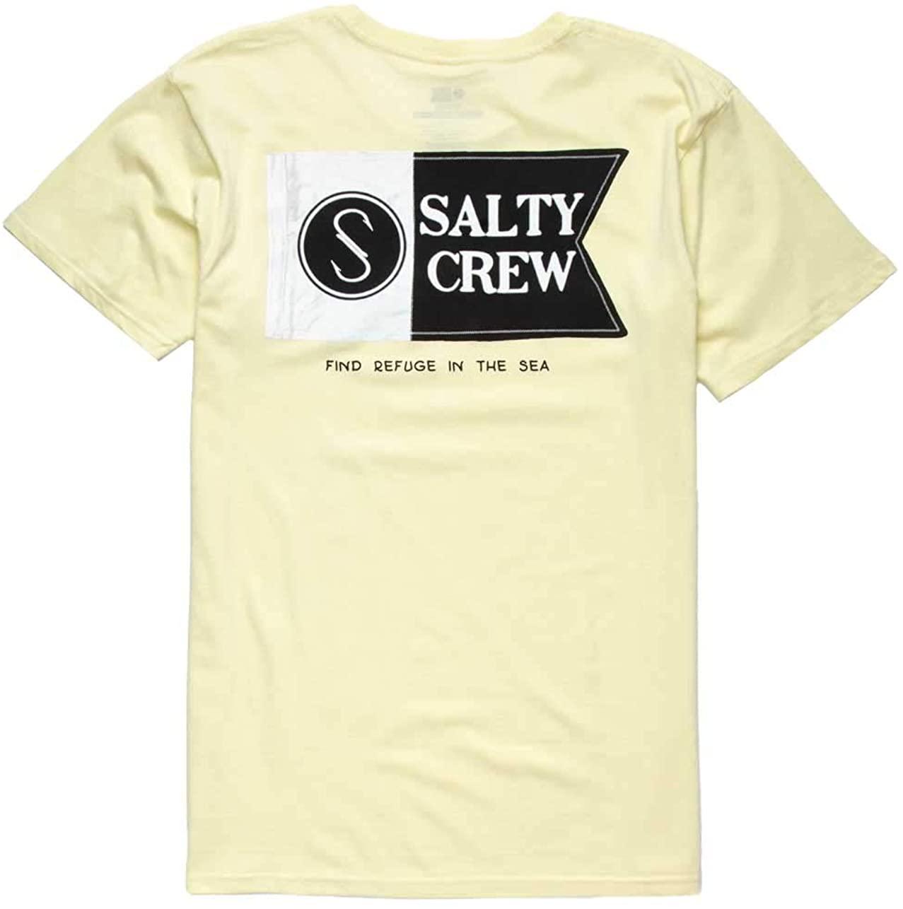 Salty Crew Patchwork Premium T-Shirt - Banana - LG