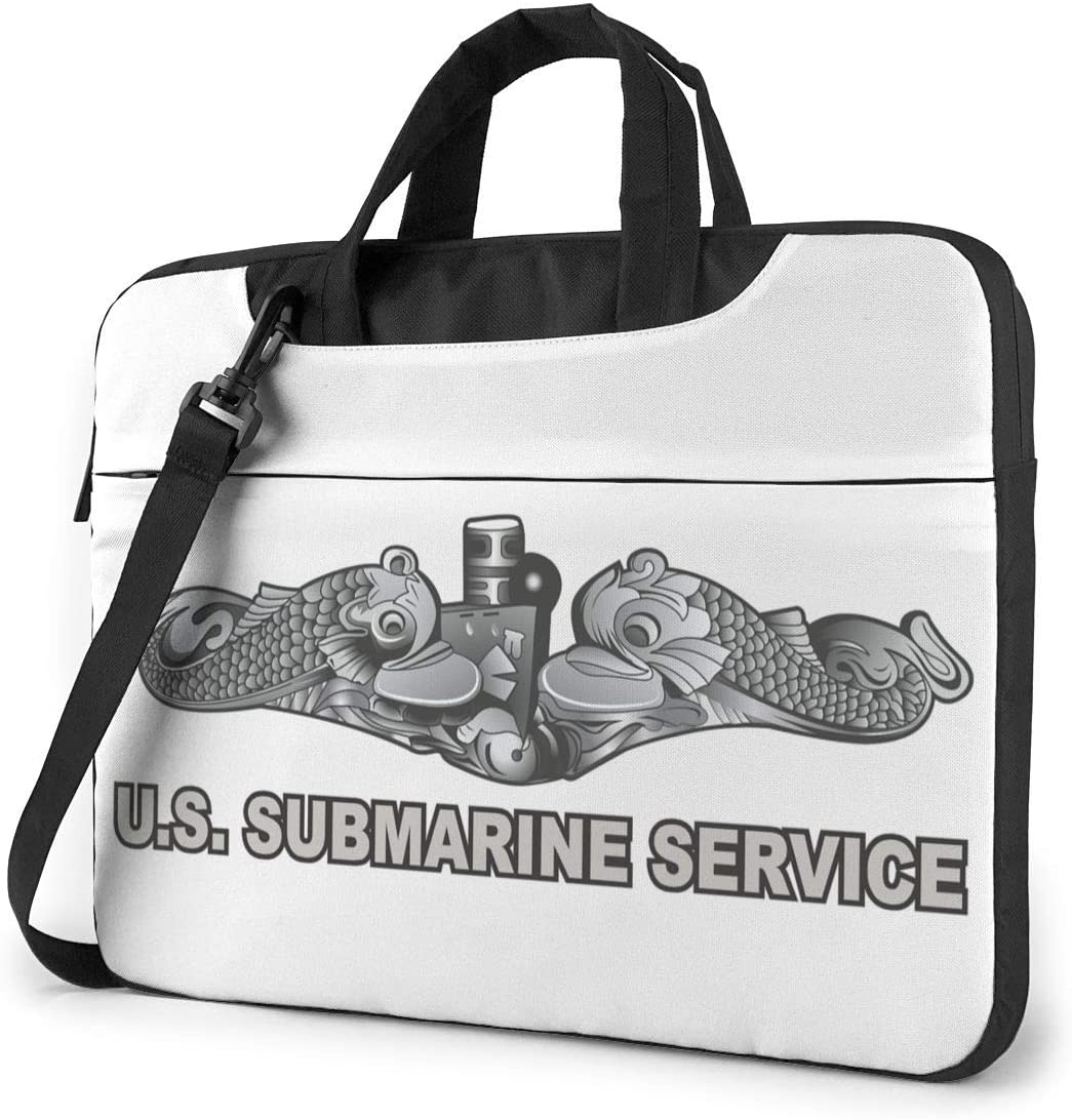 N/C Us Submarine Service Dolphins Waterproof Laptop Shoulder Messenger Bag, Computer Protective Case, Briefcase, Unisex, Exquisite Style.14 Inch
