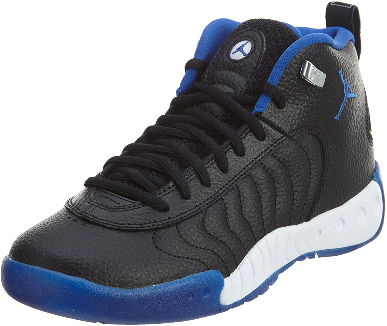 Jordan Jordan Jumpman Pro BG shoes, Black Varsity Royal Silver, size 4Y