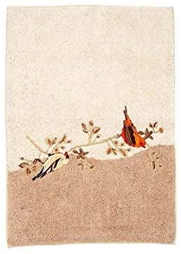 Avanti Linens Gilded Birds, Bath Rug, Ivory