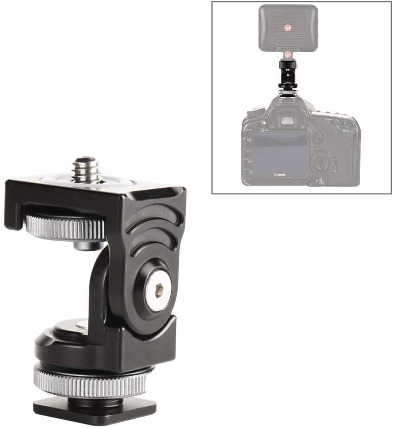 Camera Tripod Head Adapter Panorama Damping Two-Dimensional Hot Shoe Head Multi-Function Bracket