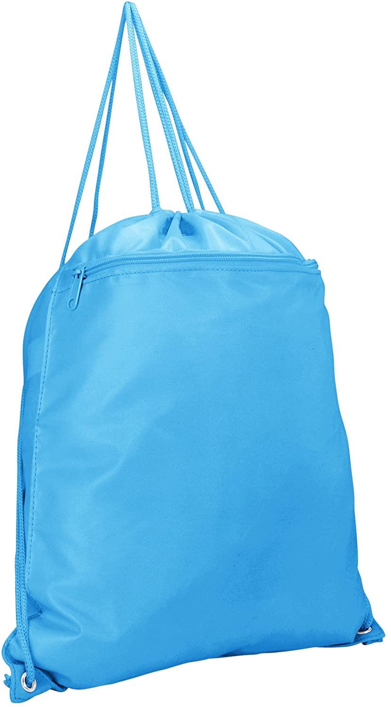 DALIX Drawstring Backpack Sack Bag (Red, Blue, Black, Yellow, Pink, Navy)