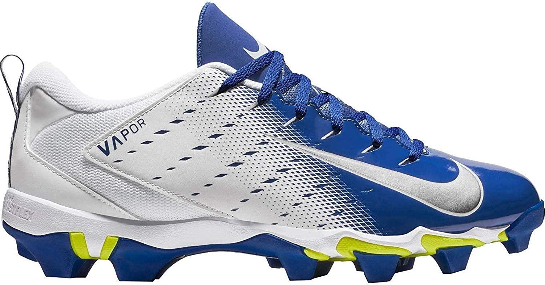 Nike Men's Vapor Untouchable Shark 3 Football Cleat (White/Blue,11.5 D(M) US)