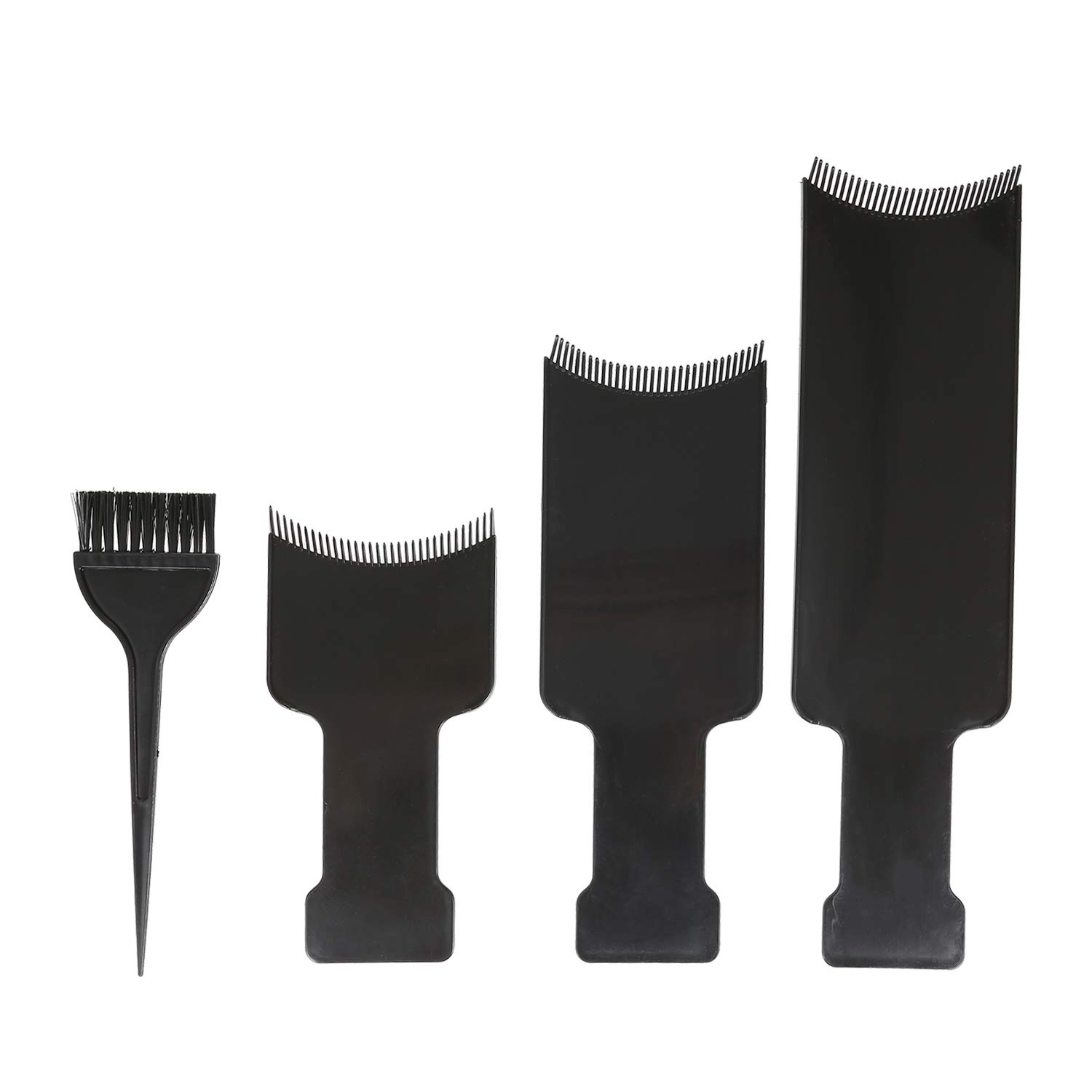 Balayage Highlighting Board, Anself 4pcs Hair Color Mixing Dye Kit Hair Dyeing Tint Brush Comb Tool for Highlights, Lowlights, Coloring, Dyeing Home & Salon Use Black
