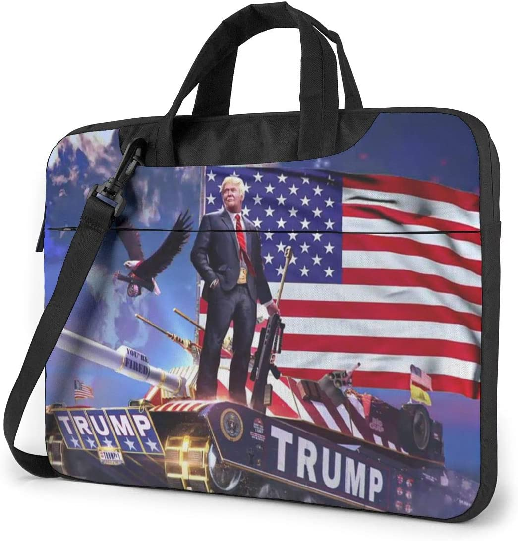 N/C American Us Trump 2020 Waterproof Laptop Shoulder Messenger Bag, Computer Protective Case, Briefcase, Unisex, Exquisite Style.13 Inch
