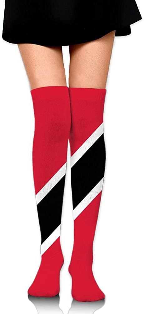 MASDUIH Flag Of Trinidad And Tobago Dresses Knee Thighs Stockings Running Thighs Socks.