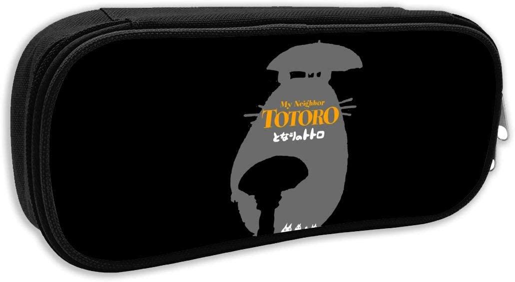GekhHaon Totoro Teens Pen Box Case Portable Pencil Makeup Pouch Student Large Capacity Canvas Pencil Case