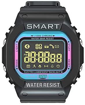 OpudaEX16T Smart Watch Step Counter Sports Waterproof Information Notification Sports (Blue)