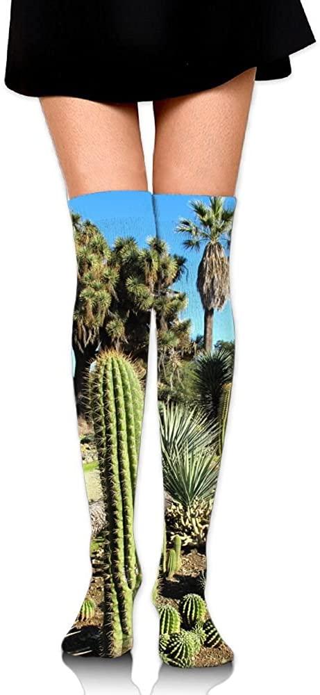LINGMEI Womens Unisex Tube Stockings Cactus-California Over The Knee Unisex Knee High Long Socks 65cm