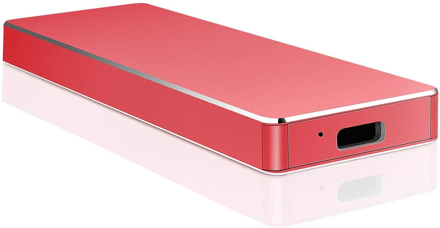 External Hard Drive, Uiesy External Hard Drive Portable Compatible with PC, Desktop, Laptop, Mac (2TB, Red)