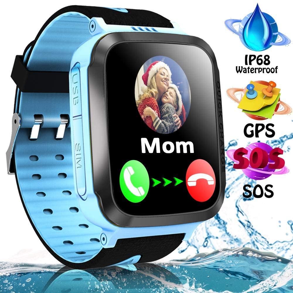Kids Smart Watch Phone Waterproof with GPS Tracker Two Way Call SOS 1.44