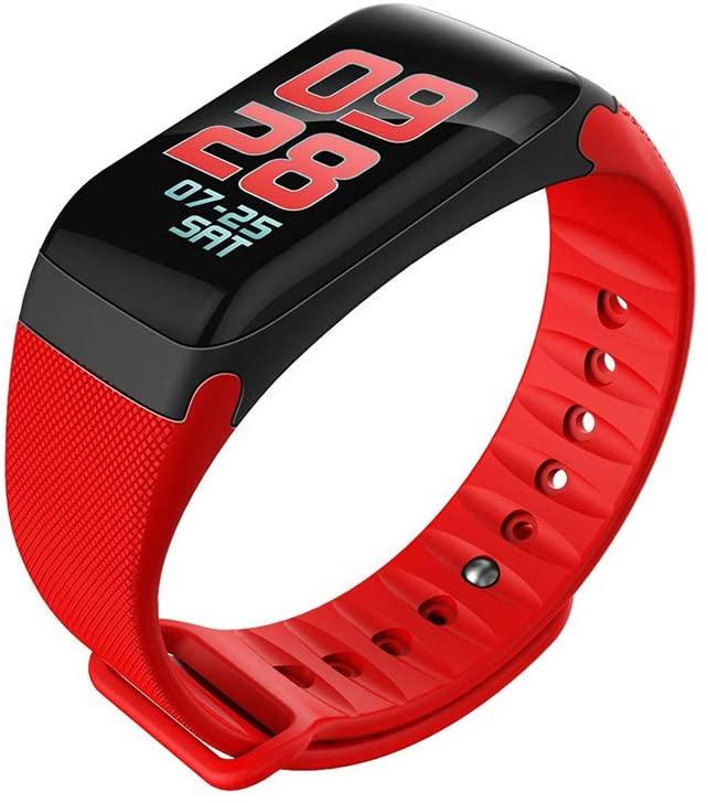 MIJNUX Smart Bracelet Color Screen F601 Heart Rate Blood Pressure Monitoring Sports Step Watch Outdoor Sports Bracelet,B