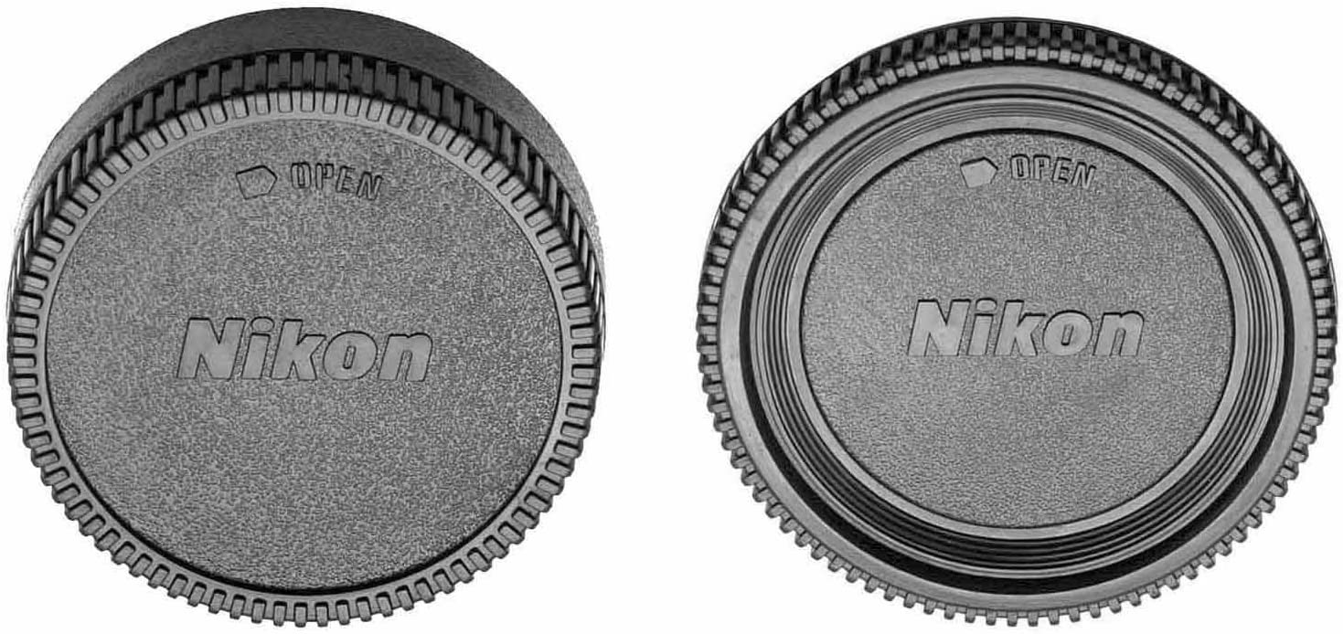 Gadget Place Camera Body Cap and Rear Lens Cap for Nikon D3400 D5600 D500 D5 D7200 D810A D5500