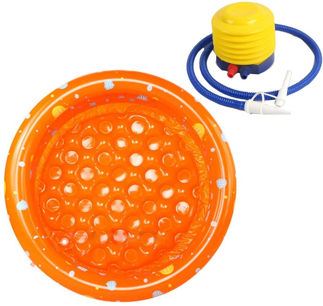 Hi Suyi Baby Kids 3 rings Ocean Inflatable Swimming Bath Play Paddling Pool Beach Toys with Air Pump 100x28cm