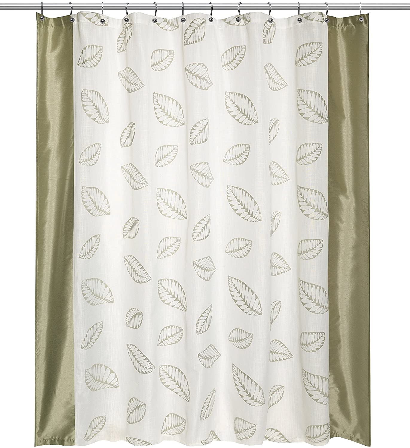 Popular Bath Shower Curtain, Fiji Collection, 70 x 72, Mint